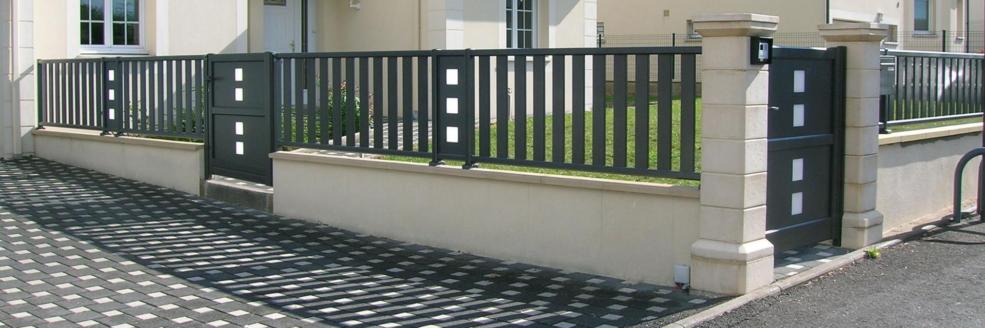 Cloture Bois Hauteur 2M50 clôture aluminium 68, clôture alu haut rhin (68) | afm bruckert