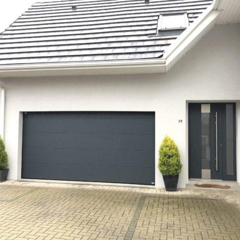 Porte de garage sectionnelle à BRUNSTATT près de mulhouse installée par AFM BRUCKERT