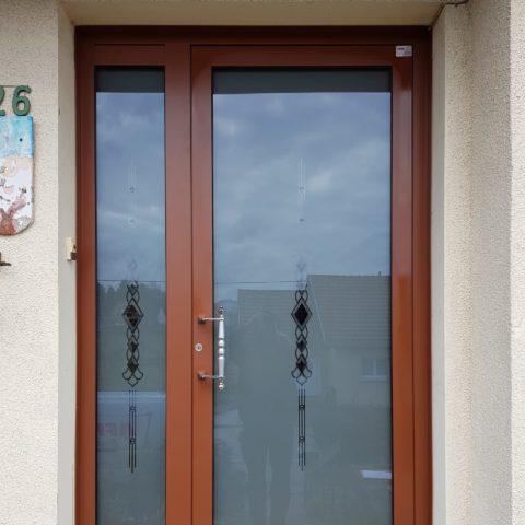 Fourniture et pose d'une porte d'entrée vitrée à LEIMBACH HAUT-RHIN